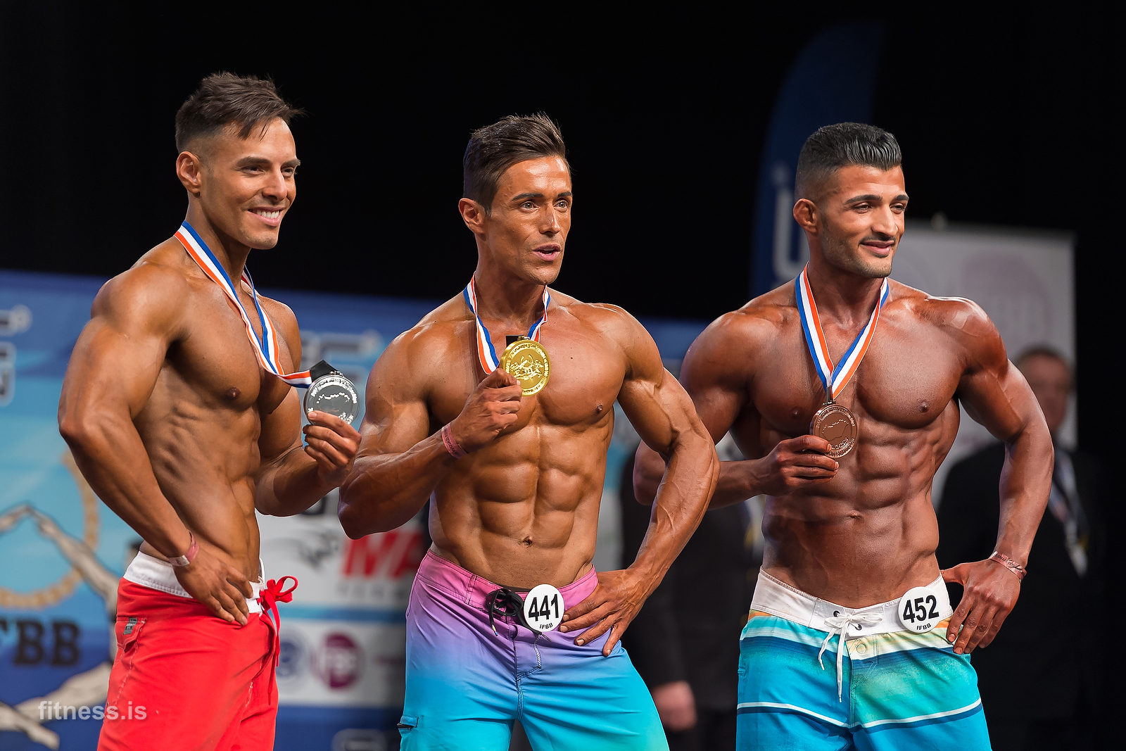 Sportfitness (Men´s physique) á HM í Búdapest 2015.